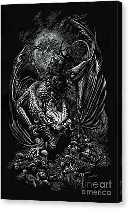 Death Dragon Canvas Print by Stanley Morrison