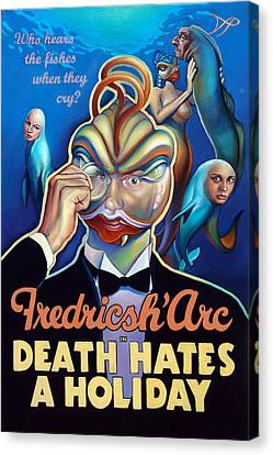 Fredricsh Arc In Death Hates A Holiday Canvas Print by Patrick Anthony Pierson