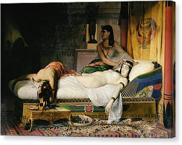 Death Of Cleopatra Canvas Print by Jean-Andre Rixens