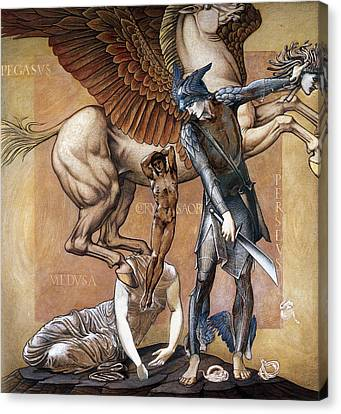 Death Of Medusa Canvas Print by Edward Burne Jones