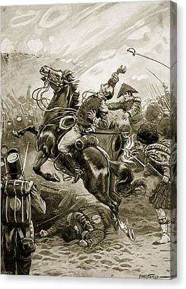 Death Of Sir Edward Pakenham Canvas Print by Paul Hardy