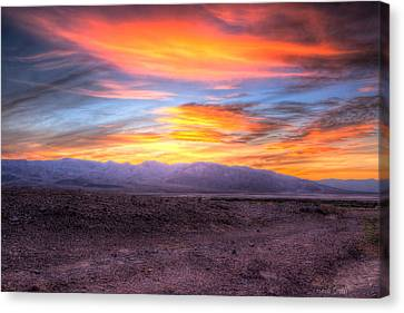 Death Valley Sunset Canvas Print by Heidi Smith