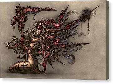 Death's Angel Canvas Print by David Bollt