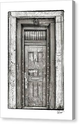 Decaying Beauty In Black And White Canvas Print by Brenda Bryant