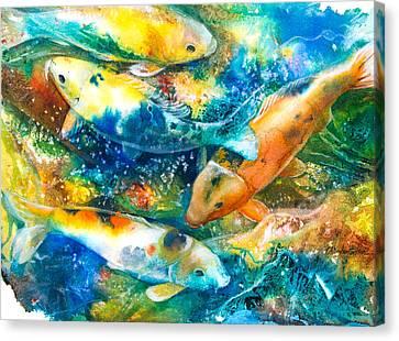 December Koi II Canvas Print by Patricia Allingham Carlson