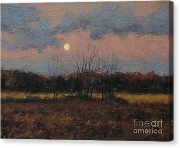 December Moon Canvas Print by Gregory Arnett