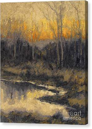 December Reflection Canvas Print by Gregory Arnett