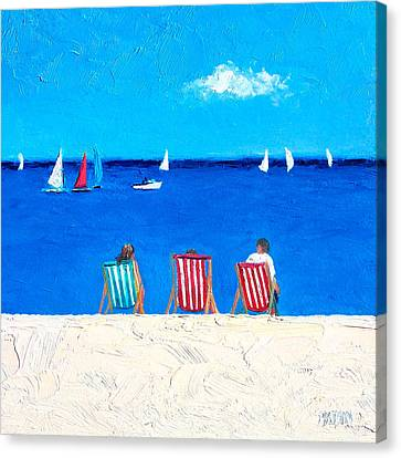 Deck Chair View Canvas Print by Jan Matson
