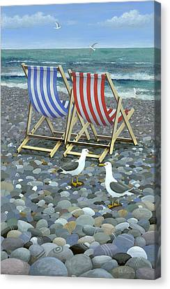 Deck Chairs Canvas Print by Peter Adderley