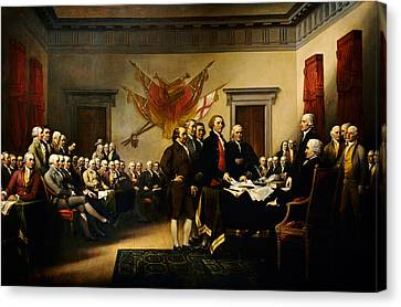 Declaration Of Independence Canvas Print by MotionAge Designs