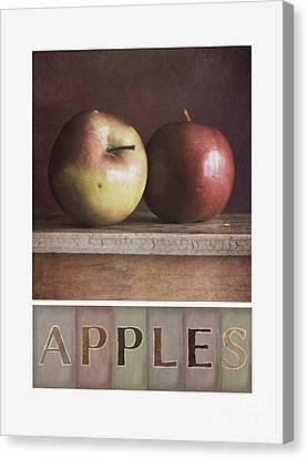 Deco Apples Canvas Print by Priska Wettstein