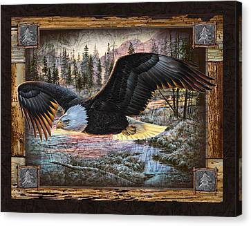 Deco Eagle Canvas Print by JQ Licensing