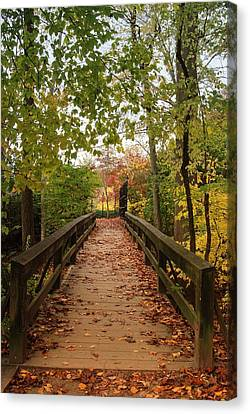 Decorate With Leaves - Holmdel Park Canvas Print by Angie Tirado