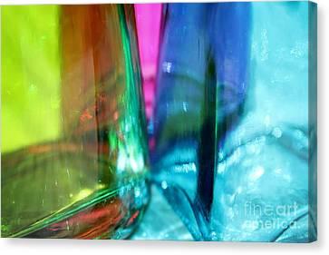 Decorative Bottles IIi Canvas Print by Krissy Katsimbras