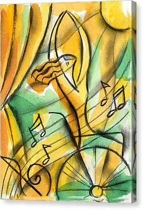 Dedication Canvas Print by Leon Zernitsky