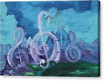 Deep Ellum Means Music Canvas Print by Lorri Crossno