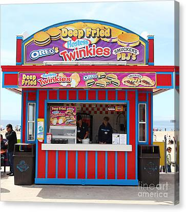 Deep Fried Hostess Twinkies At The Santa Cruz Beach Boardwalk California 5d23689 Canvas Print by Wingsdomain Art and Photography