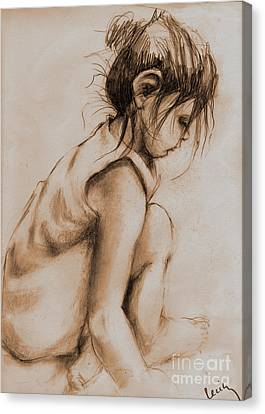 Deep In Thought Canvas Print by Cecily Mitchell