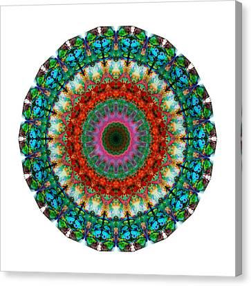 Deep Love - Mandala Art By Sharon Cummings Canvas Print by Sharon Cummings