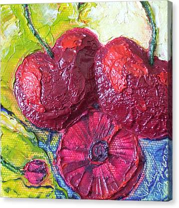 Deep Red Cherries Canvas Print by Paris Wyatt Llanso