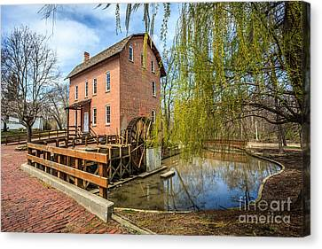 Deep River County Park Grist Mill Canvas Print by Paul Velgos