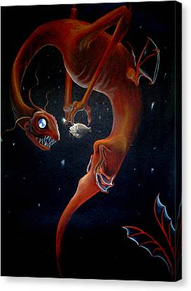 Deep Sea Dragon Canvas Print by Carin Billings