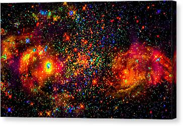 Deep Space Dimensions Collide Canvas Print by Ron Fleishman