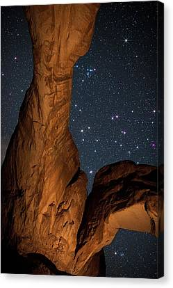 Deep Space Spectacle From Double Arch Canvas Print by Mike Berenson
