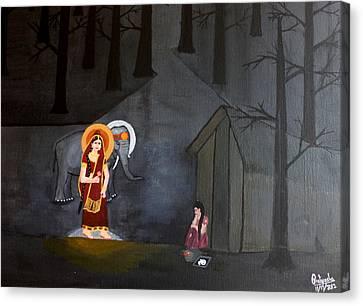 Deepavali Night Canvas Print by Pratyasha Nithin