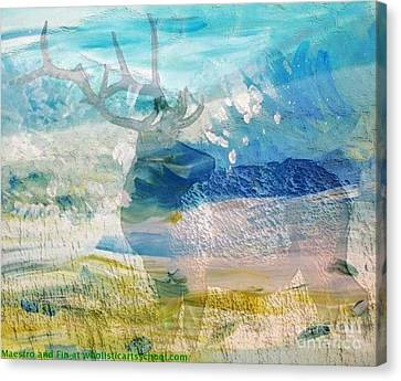 Deer Hunter Madness Canvas Print by PainterArtist FIN and Maestro