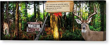 Deer Hunting Panoramic Canvas Print by Retro Images Archive