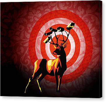 Deer Watch Canvas Print by Sassan Filsoof