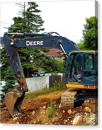 Deere For Hire Canvas Print by Barbara Griffin
