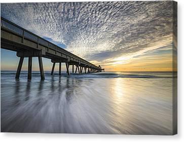 Deerfield Beach Pier Sunrise - Boca Raton Florida Canvas Print by Dave Allen
