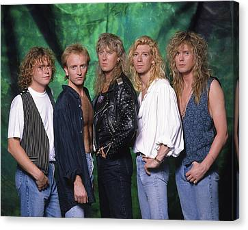 Def Leppard - 15 Months Of Rock 1987 Canvas Print by Epic Rights