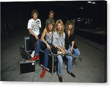 Def Leppard - Equipment & Gear 1987 Canvas Print by Epic Rights
