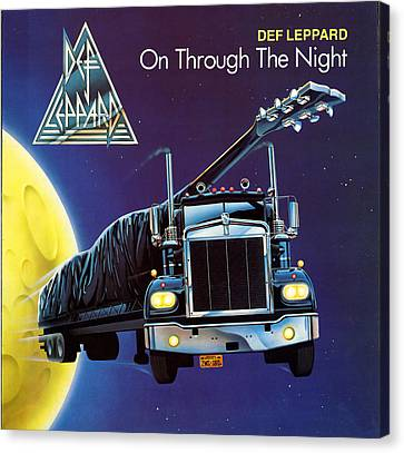 Def Leppard - On Through The Night 1980 Canvas Print by Epic Rights
