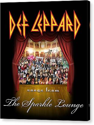 Def Leppard - Songs From The Sparkle Lounge 2008 Canvas Print by Epic Rights
