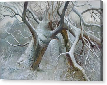 Defeated Canvas Print by Elena Oleniuc