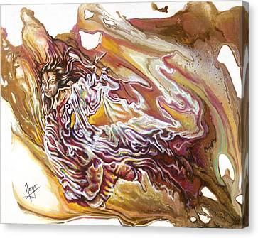 Defiance Canvas Print by Karina Llergo