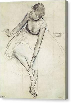 Degas, Edgar 1834-1917. A Dancer Canvas Print by Everett