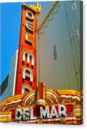 Del Mar Theater - Santa Cruz - 02 Canvas Print by Gregory Dyer