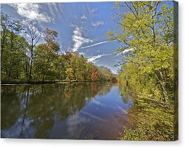 Delaware And Raritan Canal Canvas Print by David Letts