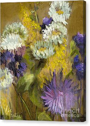 Delicate Aroma I -unframed-with Gold Leaf By Vic Mastis Canvas Print by Vic  Mastis