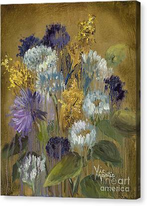 Delicate Aroma II -unfarmed-with Gold Leaf By Vic Mastis Canvas Print by Vic  Mastis