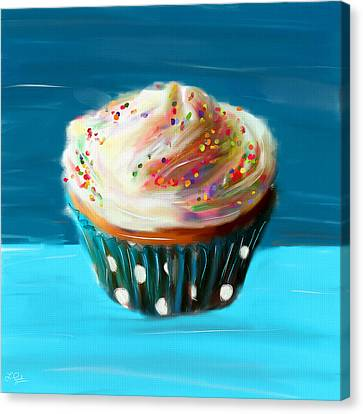Delightful Sprinkles Canvas Print by Lourry Legarde