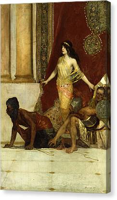 Delilah And The Philistines Canvas Print by Jean Joseph Benjamin Constant