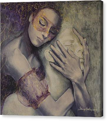 Romance Canvas Print featuring the painting Delusion by Dorina  Costras