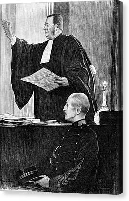 Demange And Dreyfus In Court Canvas Print by Collection Abecasis
