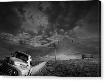 Demise Of The Small Farm Canvas Print by Randall Nyhof